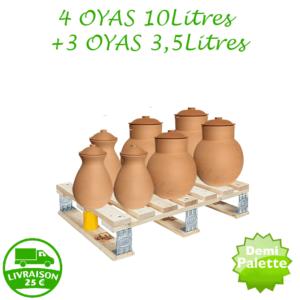 Palette – 4 Oyas 10L  + 3 Oyas 3.5L
